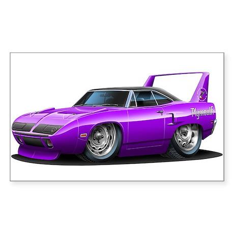Superbird Purple Car Rectangle Sticker