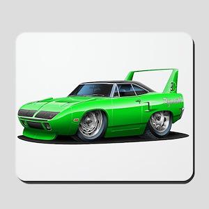 Superbird Green Car Mousepad