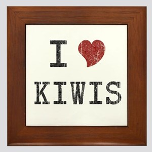 I Love Kiwis Framed Tile