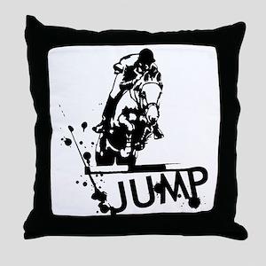 EQUESTRIAN JUMP Throw Pillow