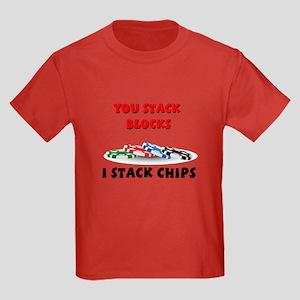 Stellar I stack, you stack Kids Dark T-Shirt