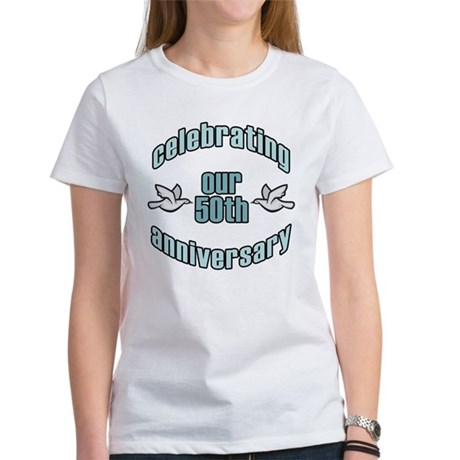 50th Wedding Doves Anniversary Women's T-Shirt