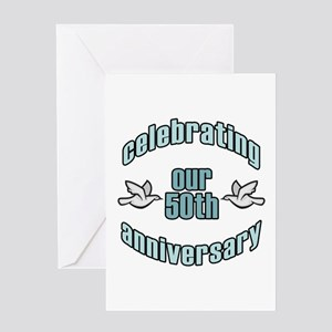 50th Wedding Doves Anniversary Greeting Card