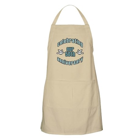 50th Wedding Doves Anniversary BBQ Apron