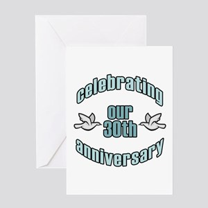 30th Wedding Doves Anniversary Greeting Card