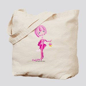 Cupcakes are a girl's... Tote Bag