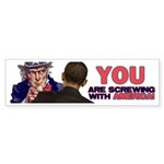 What would Uncle Sam Say? Bumper Sticker (50 pk)