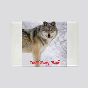 The Wolf - A Vegan Rectangle Magnet