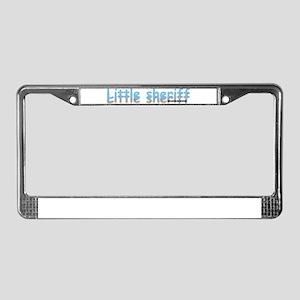 Little Sheriff License Plate Frame
