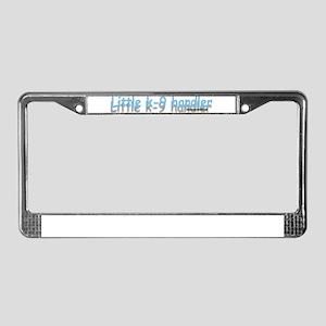 LITTLE K-9 HANDLER License Plate Frame