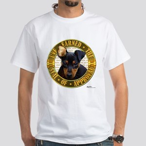 Min Pin Puppy White T-Shirt
