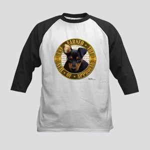 Min Pin Puppy Kids Baseball Jersey
