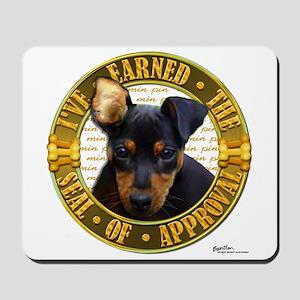 Min Pin Puppy Mousepad