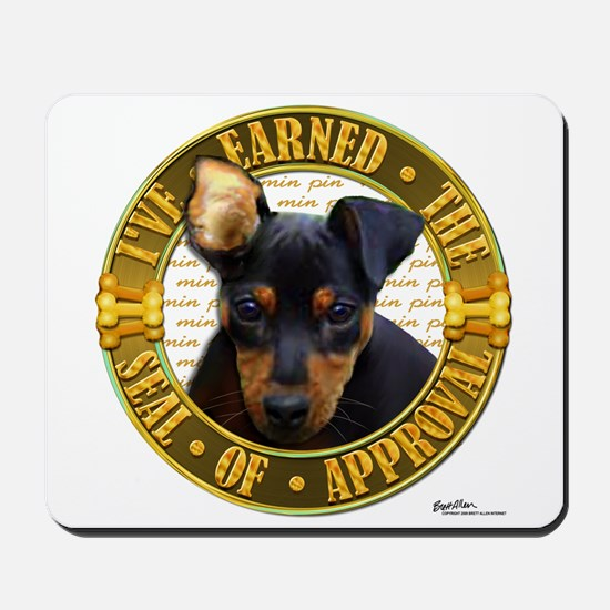 Min Pin Puppy Mousepad