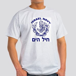 Israel Navy Logo Ash Grey T-Shirt