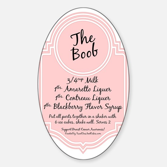 The Boob Oval Decal