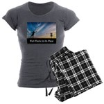 Putt Plastic In Its Place Women's Charcoal Pajamas
