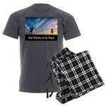 Putt Plastic In Its Place Men's Charcoal Pajamas