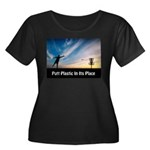 Putt Plastic In Its Place Plus Size T-Shirt