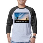 Putt Plastic In Its Place Mens Baseball Tee