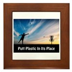 Putt Plastic In Its Place Framed Tile