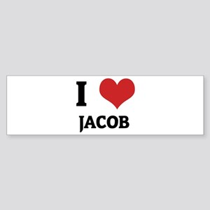 I Love Jacob Bumper Sticker