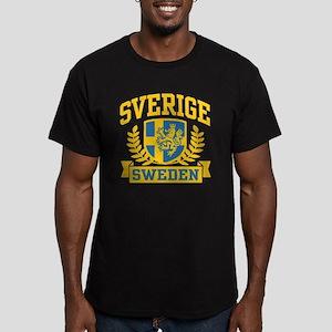 Sverige Sweden Men's Fitted T-Shirt (dark)