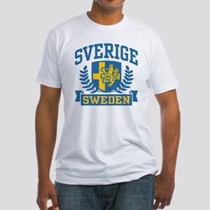 Sverige Sweden Fitted T-Shirt