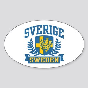 Sverige Sweden Oval Sticker