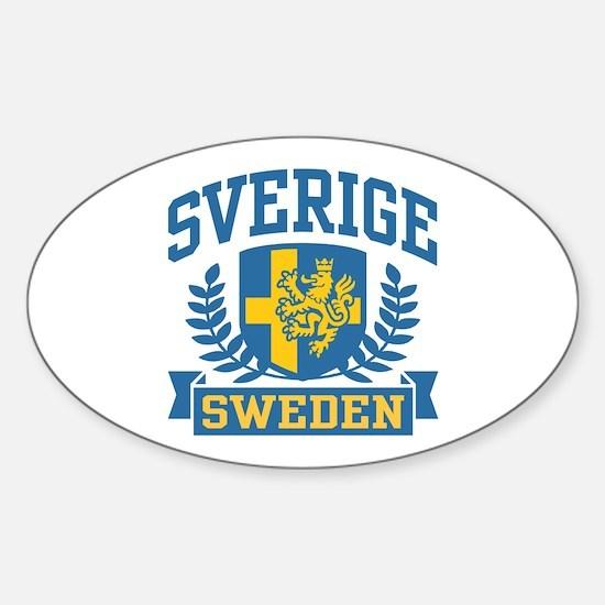 Sverige Sweden Oval Decal