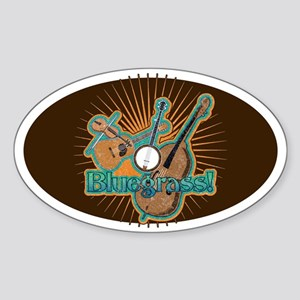 Bluegrass Oval Sticker