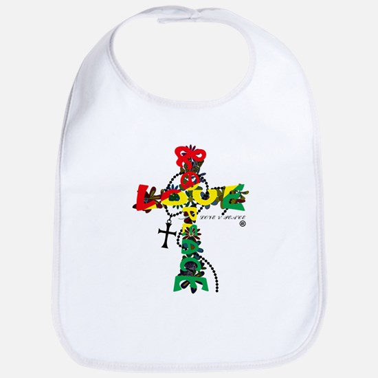 LOVE PEACE - CROSS Bib