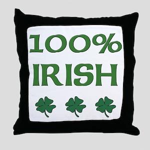 100% IRISH Throw Pillow