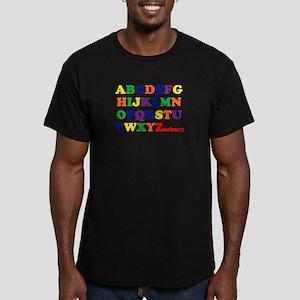 Zachary - Alphabet Men's Fitted T-Shirt (dark)