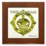 Torah Man Framed Tile