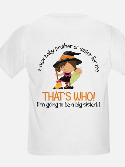 knock knock big sister halloween t-shirt T-Shirt