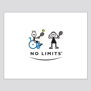 Disabled Tennis Boy Small Poster