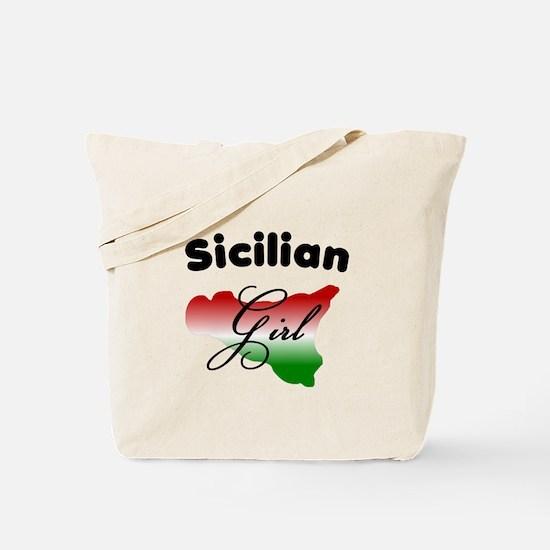 Sicilian Girl Tote Bag