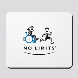 Girl with running Boy Mousepad