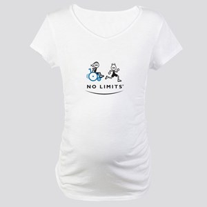 Girl with running Boy Maternity T-Shirt