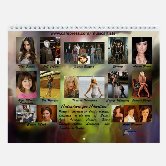 Rock/Pop/Folk/Country 2013 Wall Calendar
