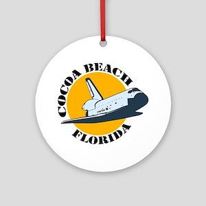 Cocoa Beach FL Ornament (Round)