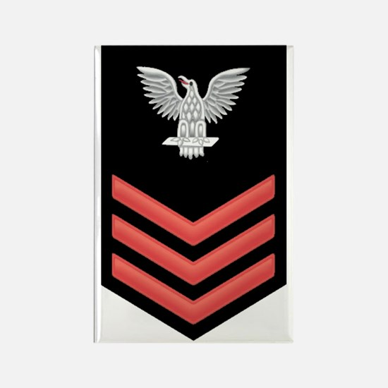 Petty Officer First Class Red Rectangle Magnet