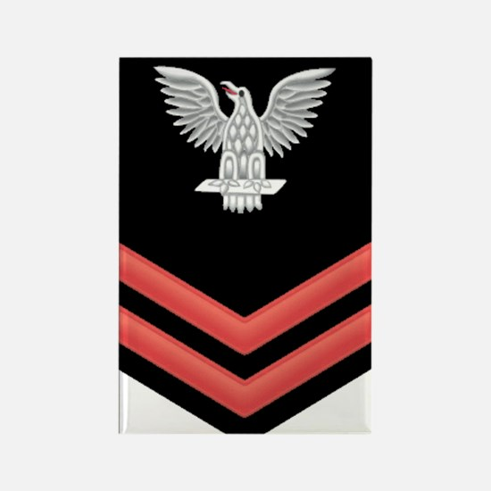 Petty Officer Second Class Red Rectangle Magnet