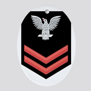 Petty Officer Second Class Red Oval Ornament