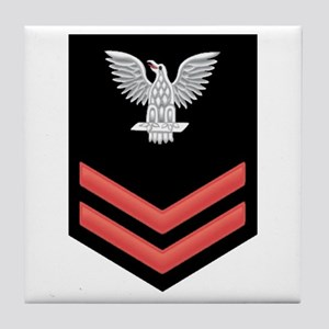 Petty Officer Second Class Red Tile Coaster
