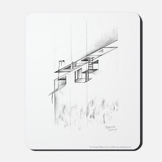 Fire Escape Mousepad