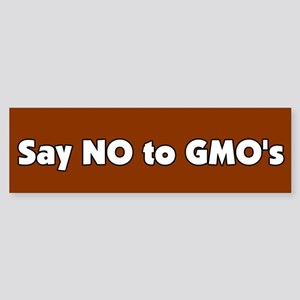 No to GMO's bumper sticker