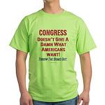 Congress Doesn't Give A Damn Green T-Shirt