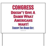 Congress Doesn't Give A Damn Yard Sign